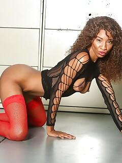 Ebony nylon porn pictures